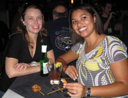 Annalise & friend enjoying shrip -sm