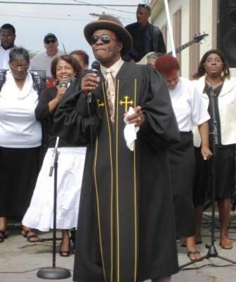 Preacher singing