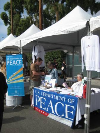 Peace booth