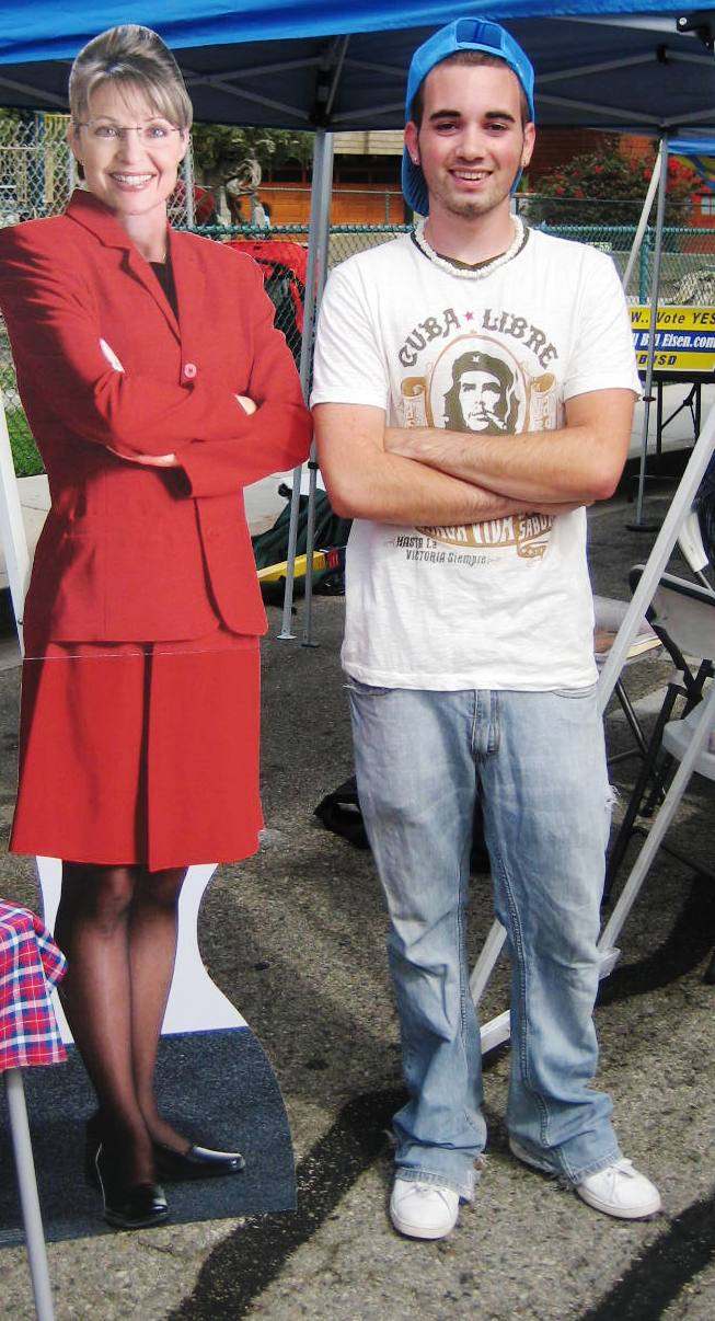 Young guy with palin