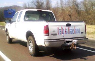 OBAMA truck sign