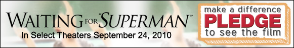 Waiting For Superman banner