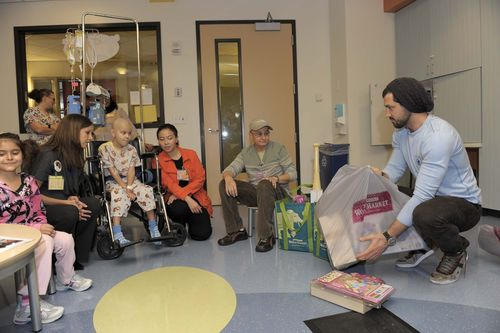 Maksim at Children's Hospital LA 3