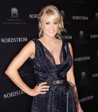 Carrie Underwood before performance at Nordstrom Nashville Symphony FAshion Show performanc_credit Royce DeGrie