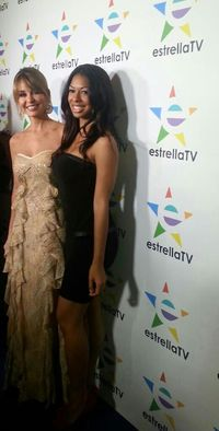 Actress Suveria Mota and Estrella TV News Anchor, Myrka Dellanos