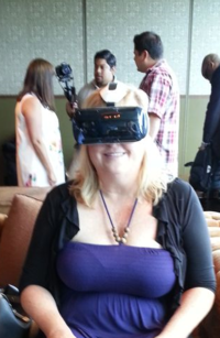 Joy Kennelly experiencing Oculus Rift