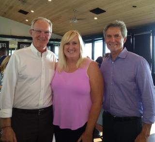 Hermosa Beach Mayor, Jeff Duclos, me, and the infamous Redondo Beach Mayor, Bill Brand.