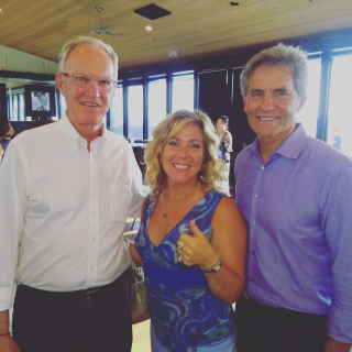 RE/MAX Top Producing Realtor,Devra Zandell, flanked by South Bay Mayors,Jeff Duclos and Bill Brand